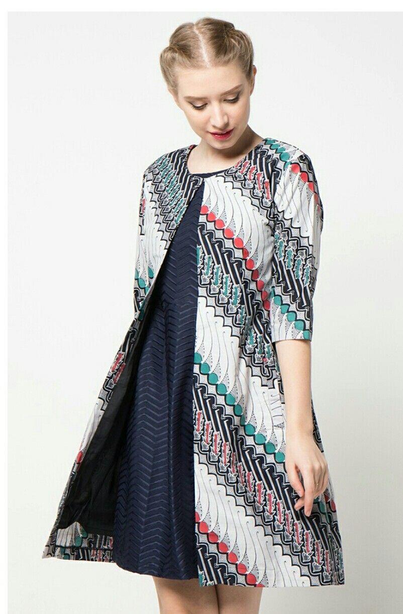 Model batik kerja dress blazer