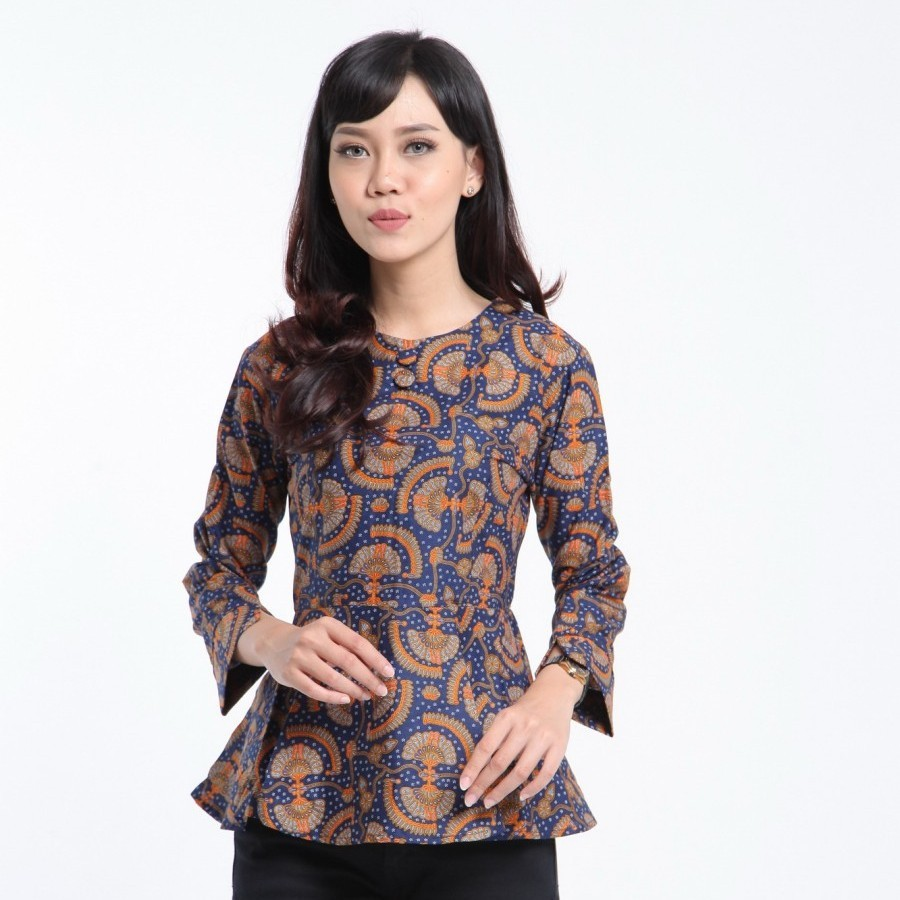 Model batik kerja dress elegan
