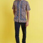 Model batik kombinasi pria
