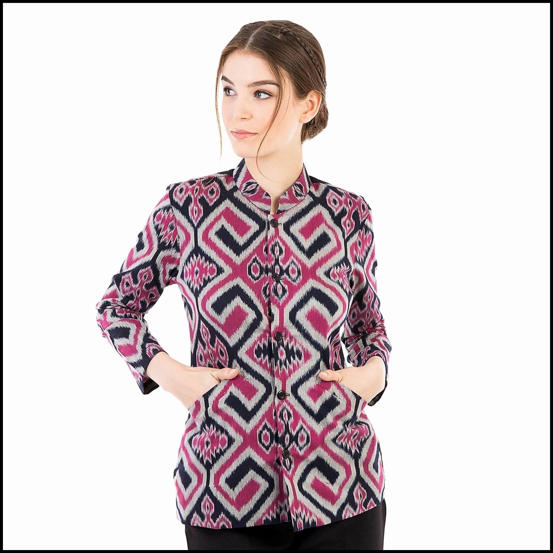 Model Batik Wanita Untuk Kerja Motif Unik Modern