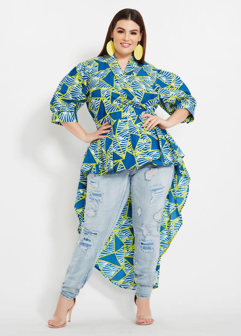 Model batik atasan wanita gemuk monokrom