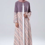 Outer batik kombinasi polos
