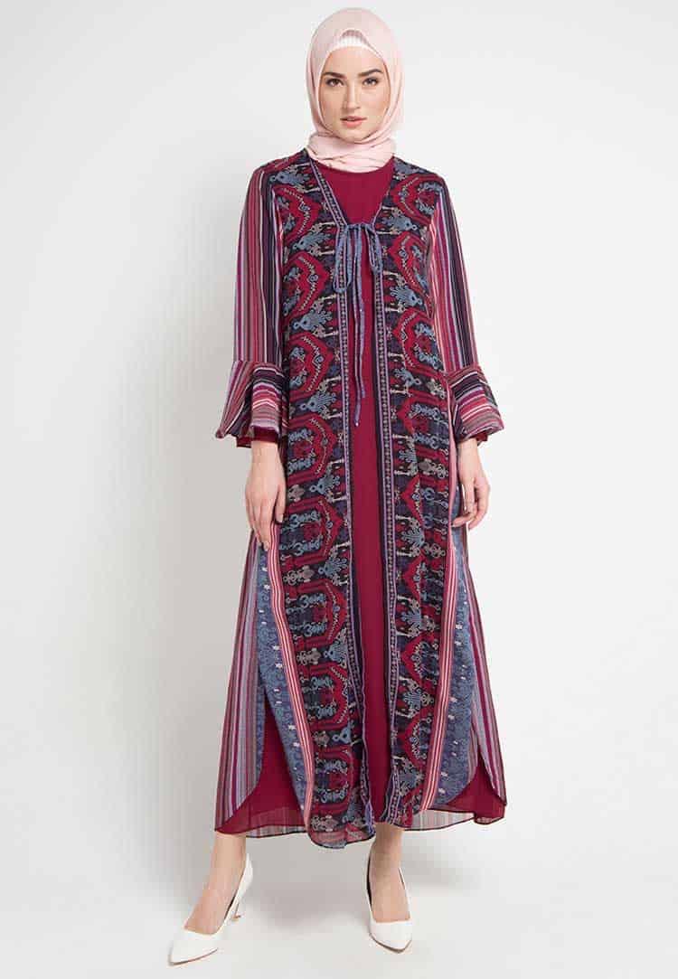 Outerwear gamis batik motif etnik