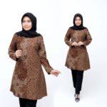 Tunik Batik Muslim Motif Bunga