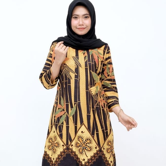 Tunik Batik Panjang Motif Bambu
