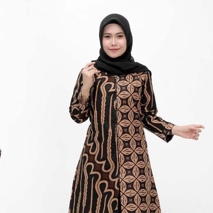 Tunik Kombinasi Batik Parang dan Kawung