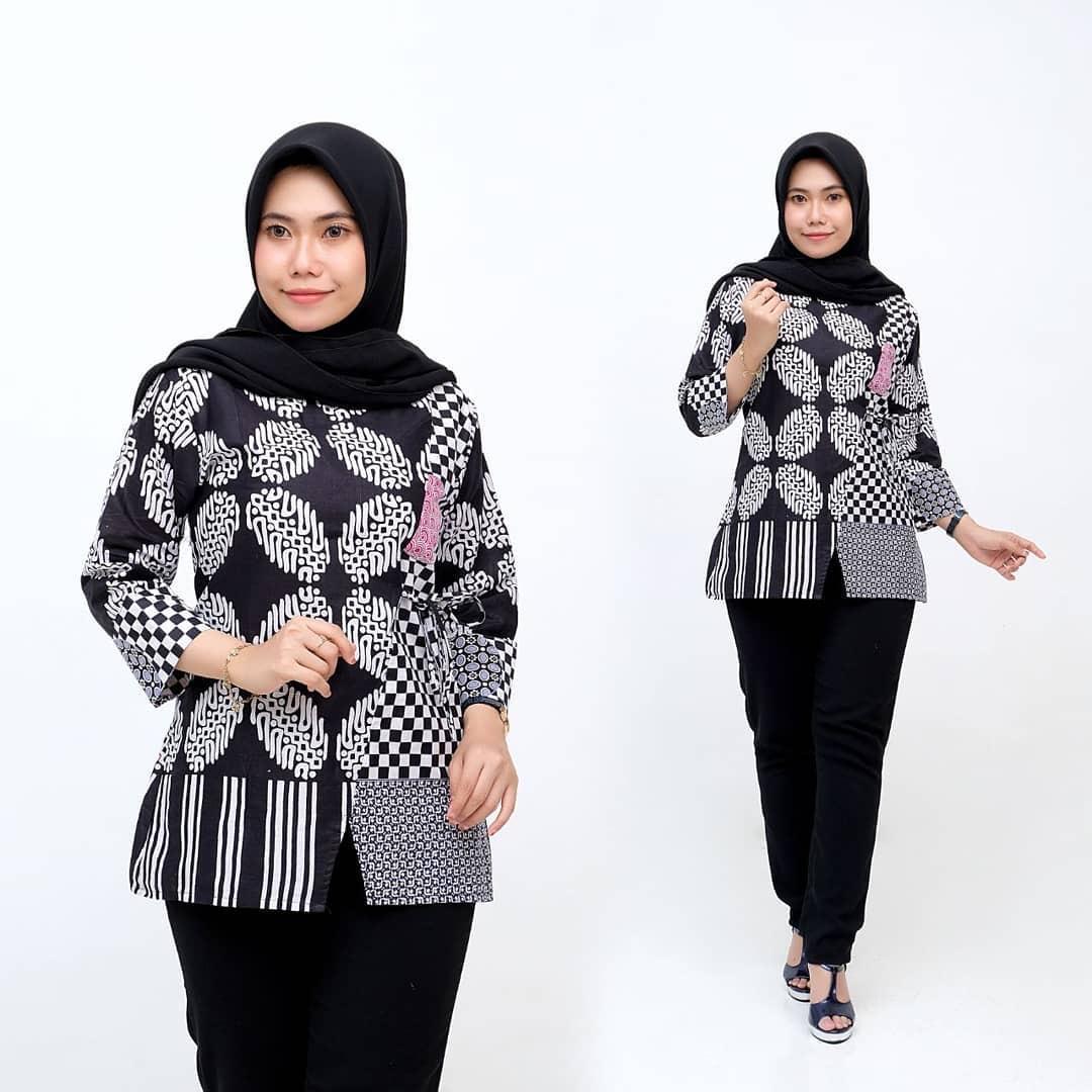Tunik Kombinasi Batik