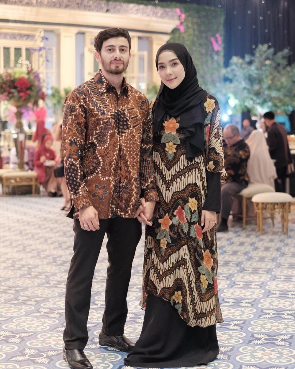 √ 11+ Model Gamis Batik Kombinasi Modern Terbaru 11