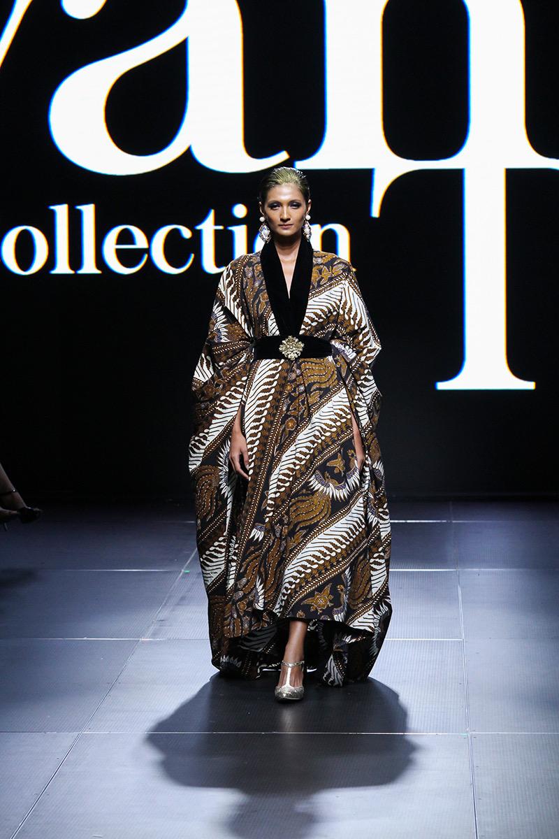 baju batik model gaun