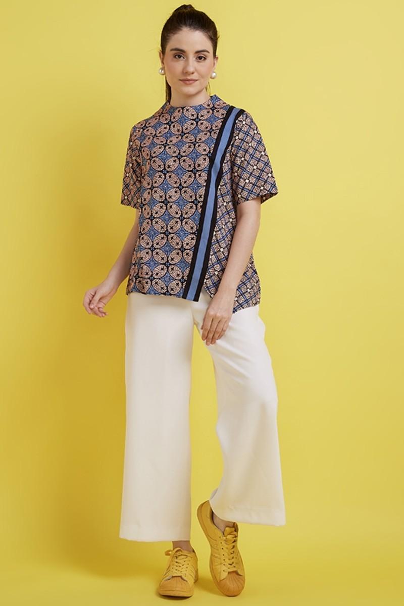 model baju atasan batik kerja berwibawa