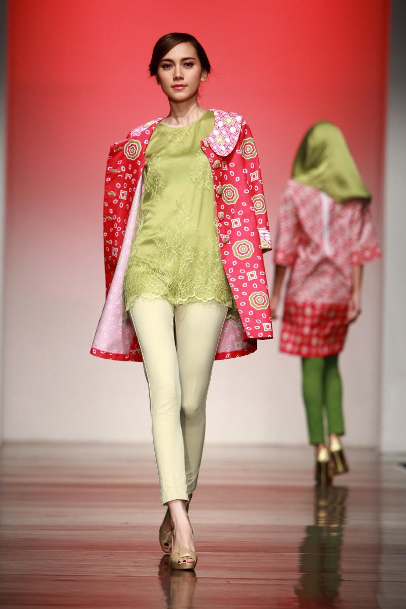 model baju batik atasan kombinasi bolero