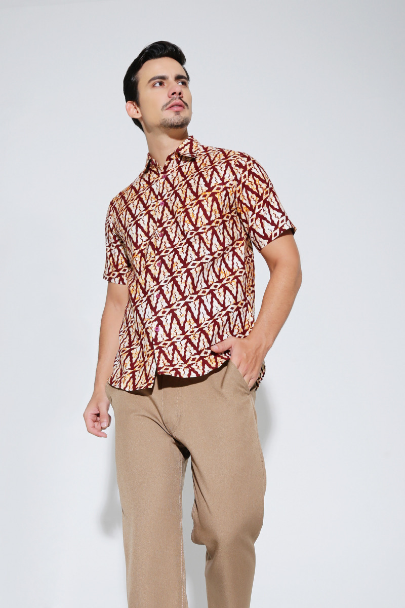 model baju batik motif triangle
