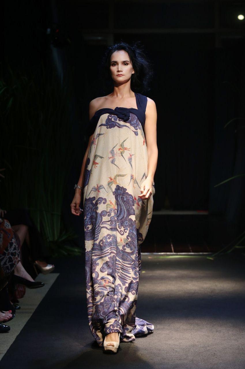 model baju batik semi gaun