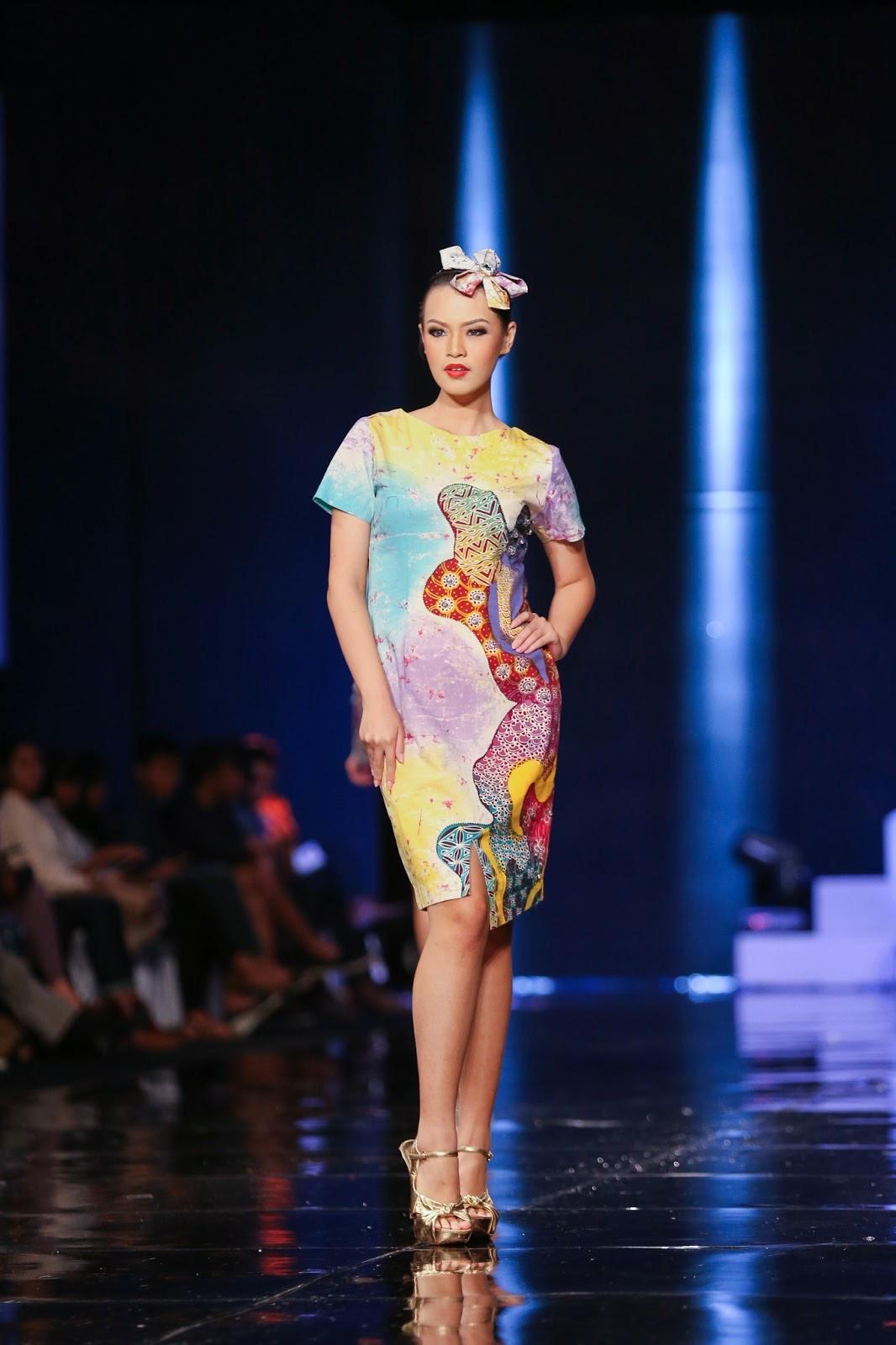 model gaun batik atasan sederhana