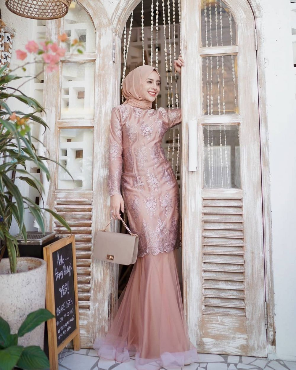 Gamis Pesta Brokat Model Duyung
