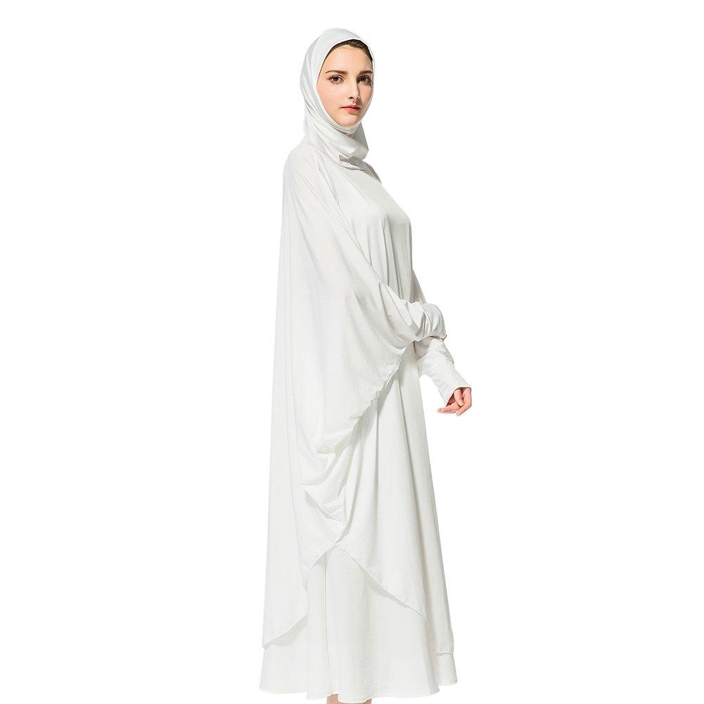 Gamis Putih dengan Lengan Longgar