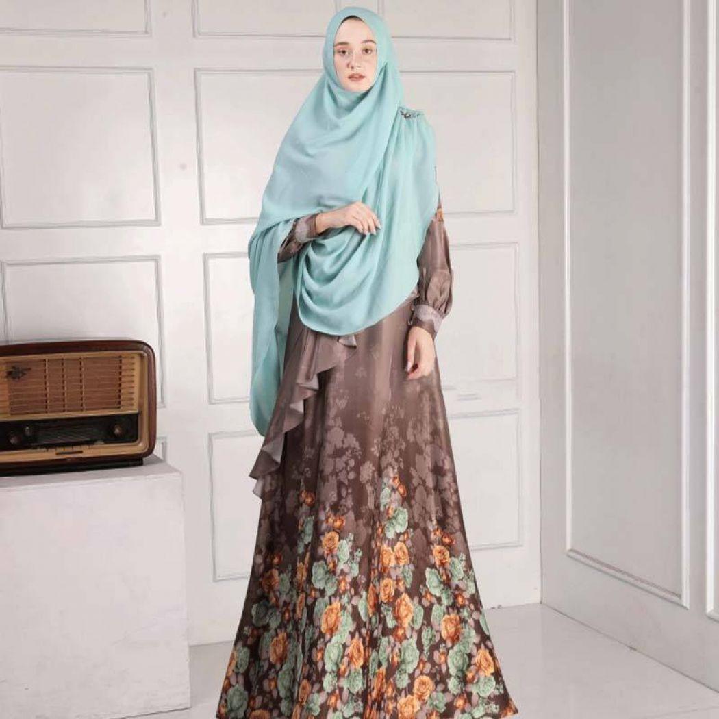 Gamis Syar'i Batik Motif Bunga