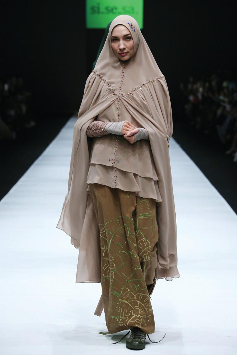 Gamis Syar'i Coklat Hijab Layer