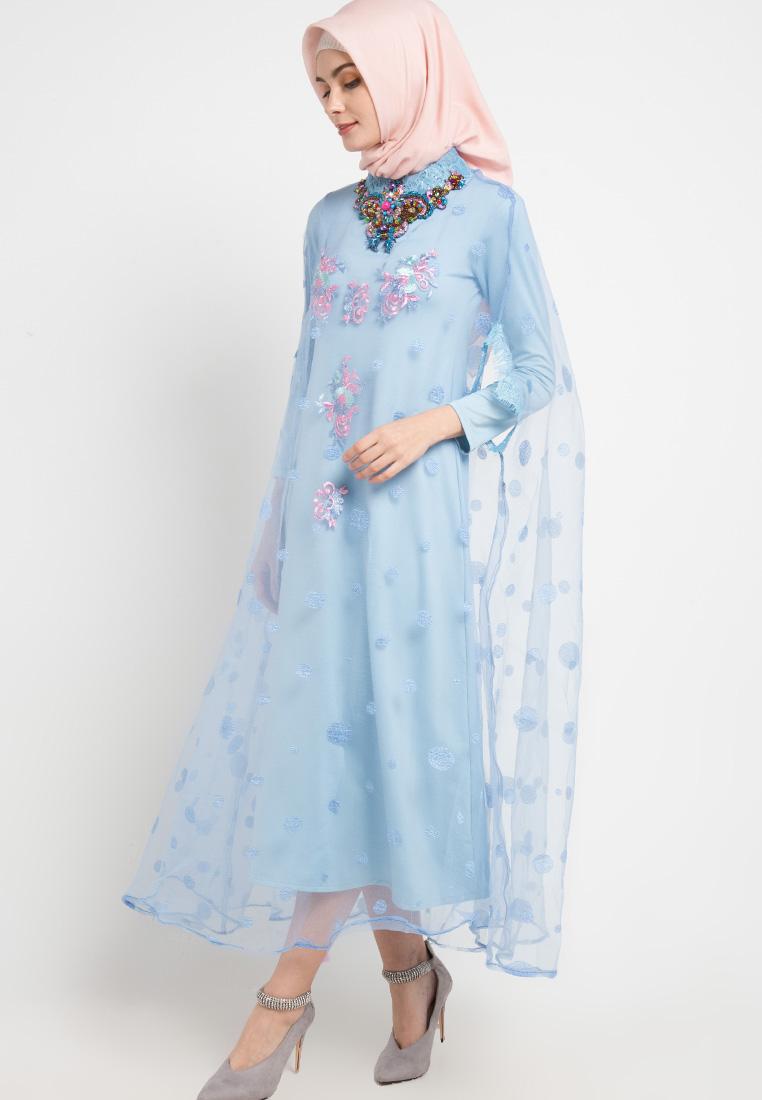 Gamis biru girly