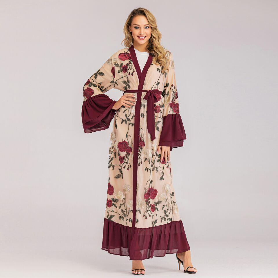 Gamis kimono katun jepang lengan balon