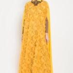 Gamis mustard fashionable