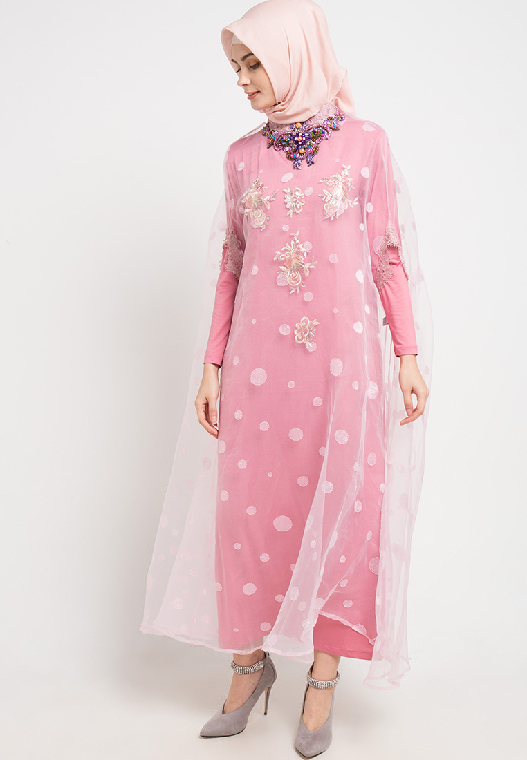 Gamis pink girly