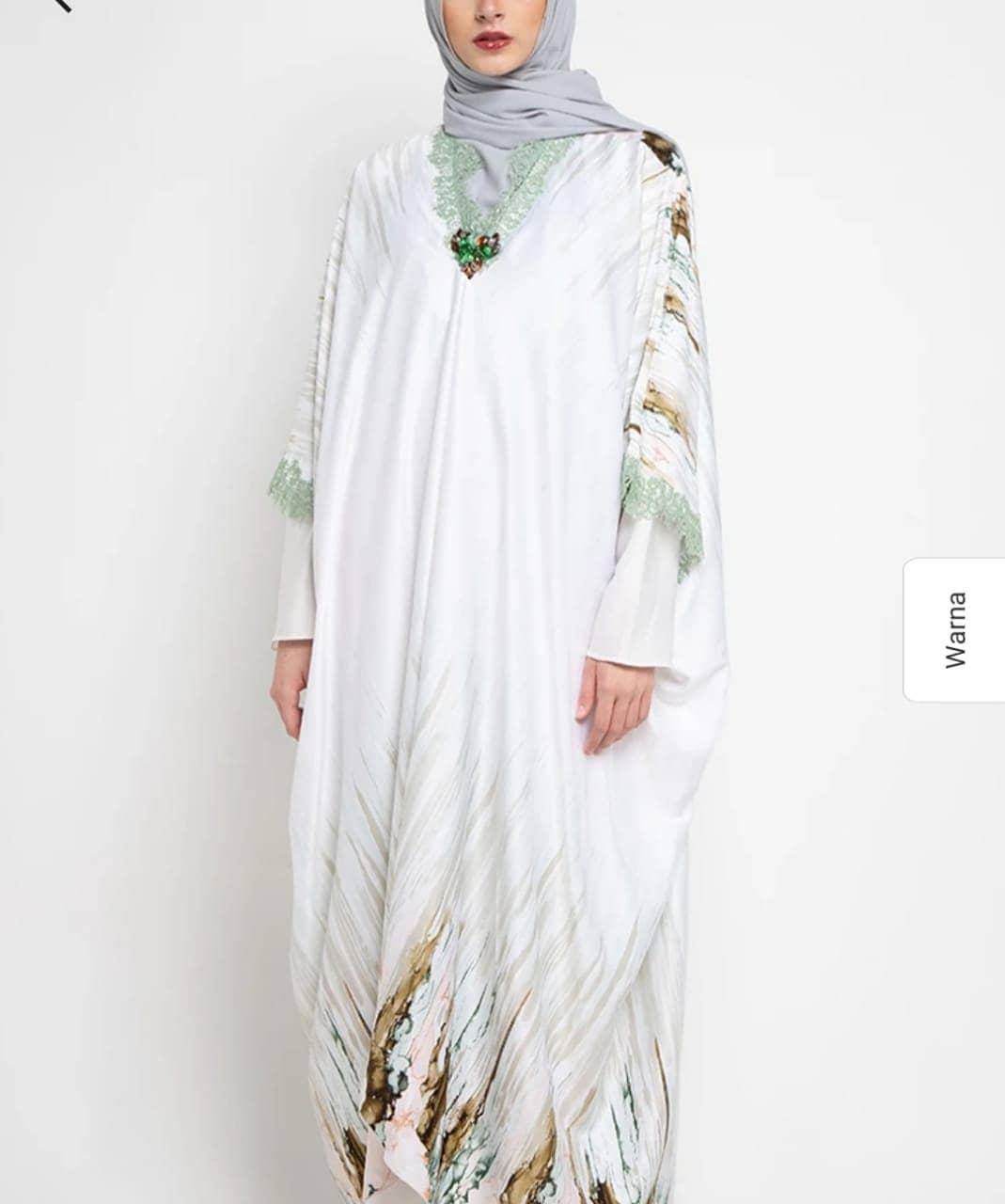 Gamis putih renda
