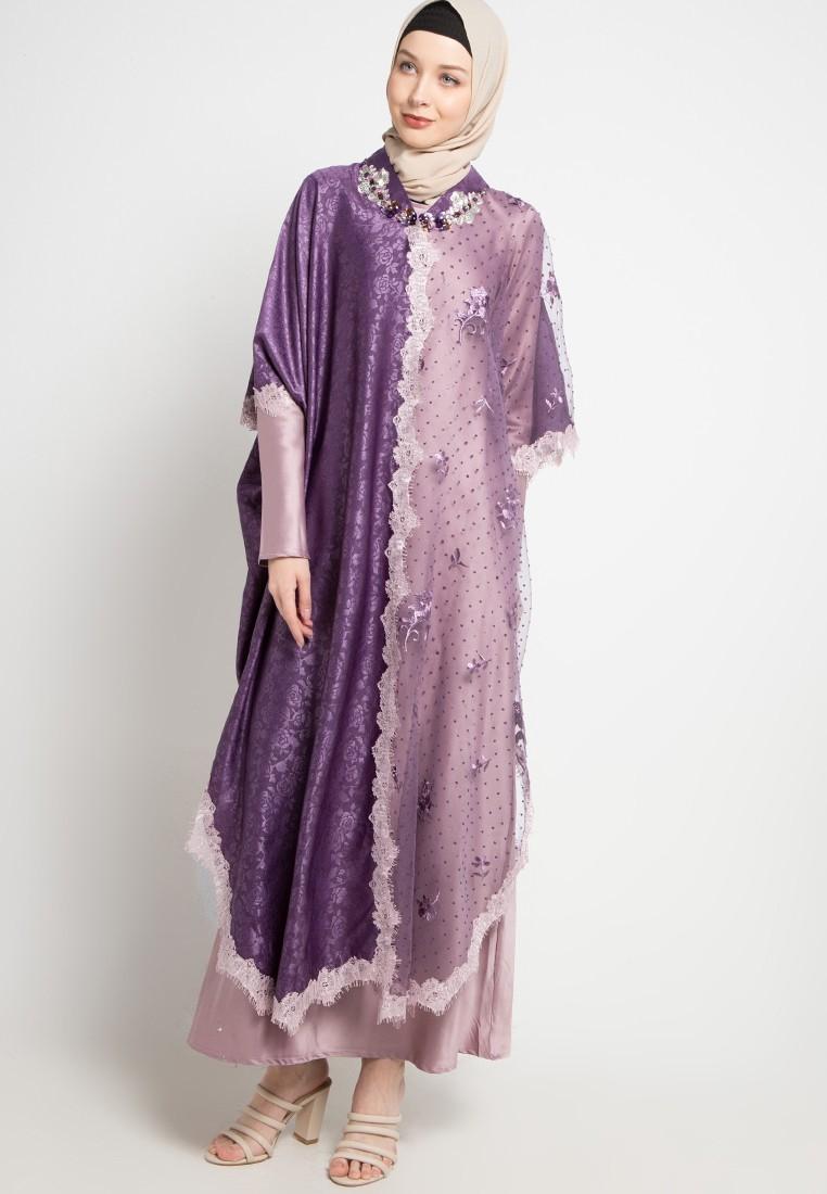 Gamis remaja warna royal ungu
