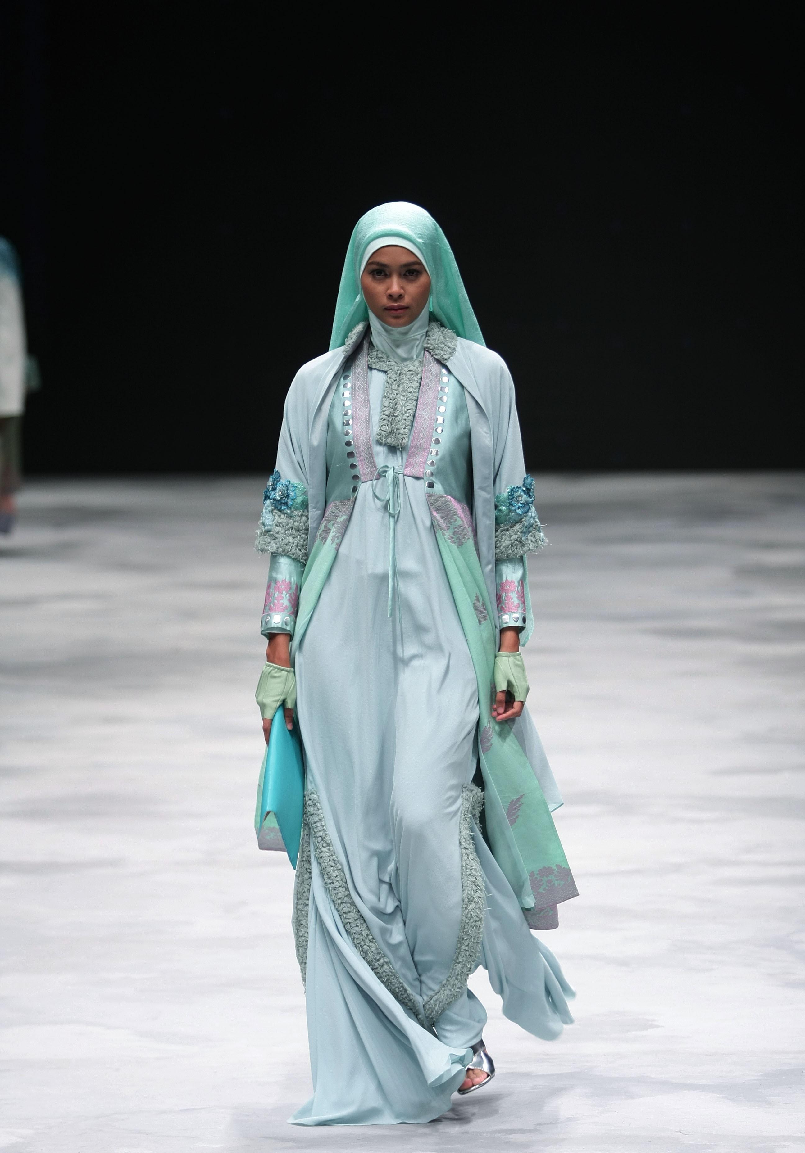 Gamis unik turquoise