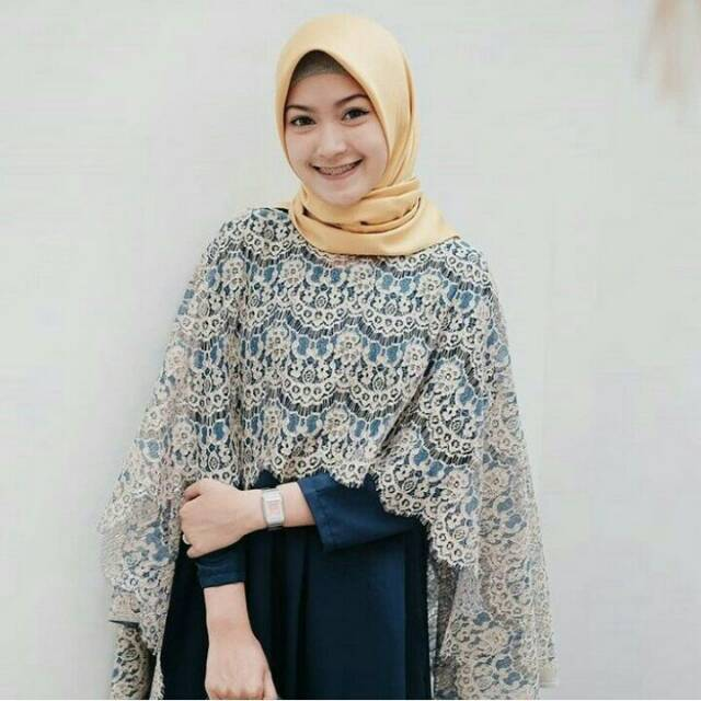 Kebaya Brokat Batwing Longdress