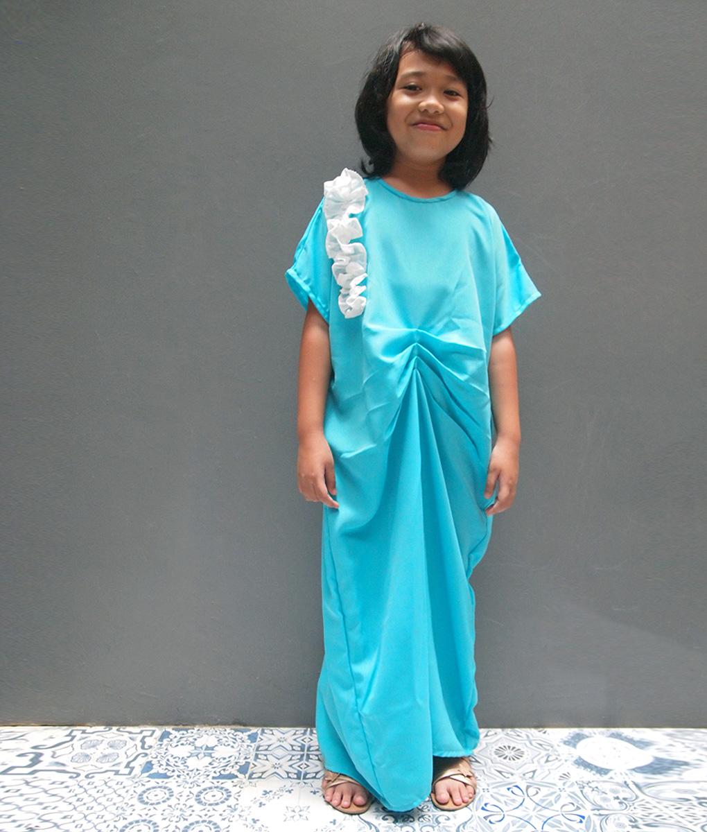 Model gamis rumbai untuk anak