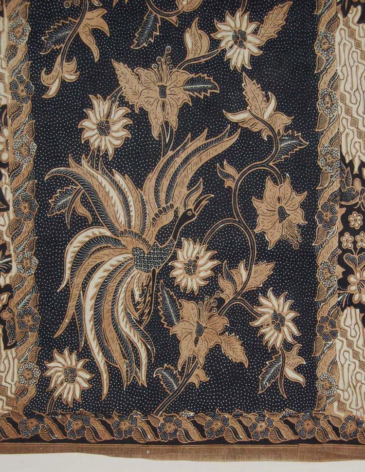 Batik Bali Buketan Hitam