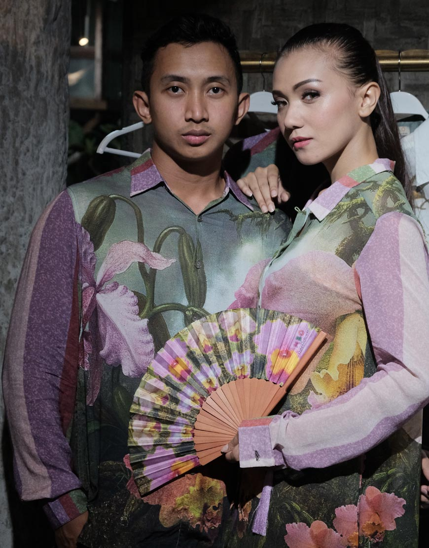 Batik Bali Couple Motif Bunga