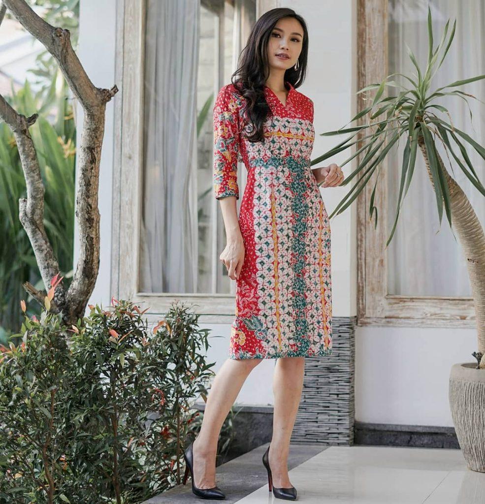 Dress Formal Kawung Kombinasi