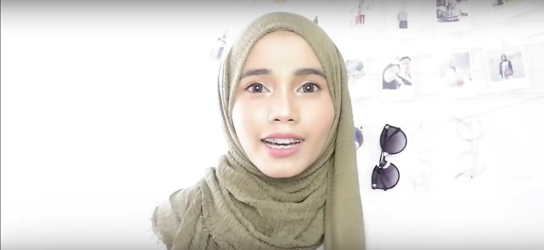 Gambar Tutorial Hijab Pashmina Rawis Renda