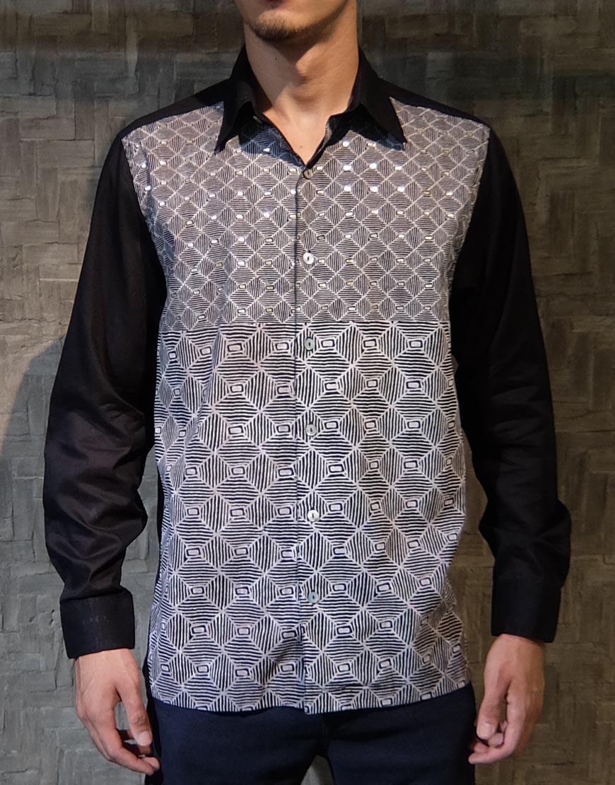 Kemeja Batik Bali Lengan Panjang