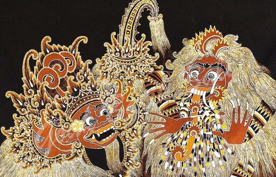 Motif Bali Singa Barong