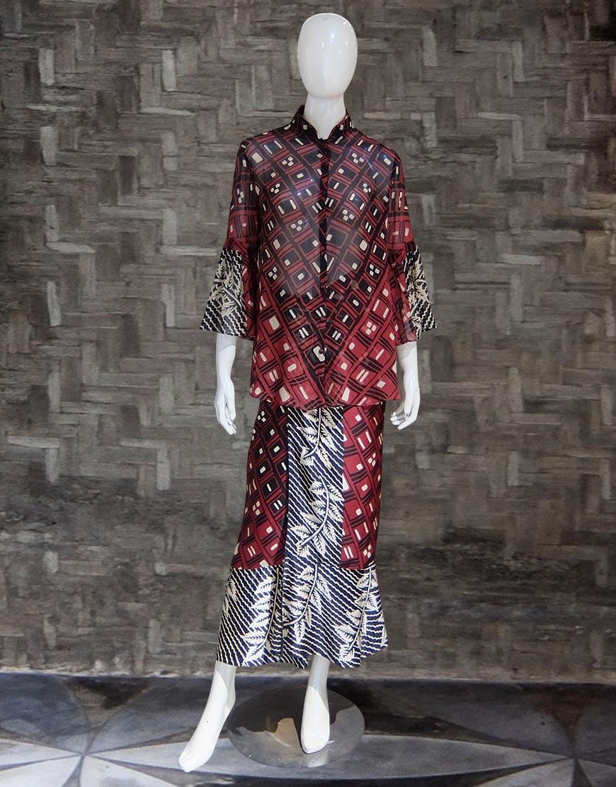 Setelan Batik Bali Nuansa Floral