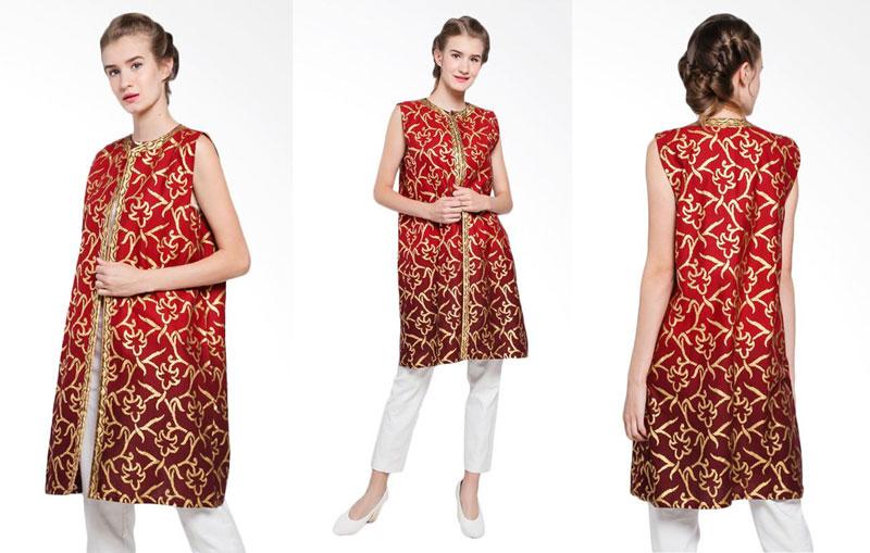 Setelan Batik Bali Senada