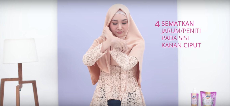 Tutorial Hijab Dua Warna Untuk Kebaya