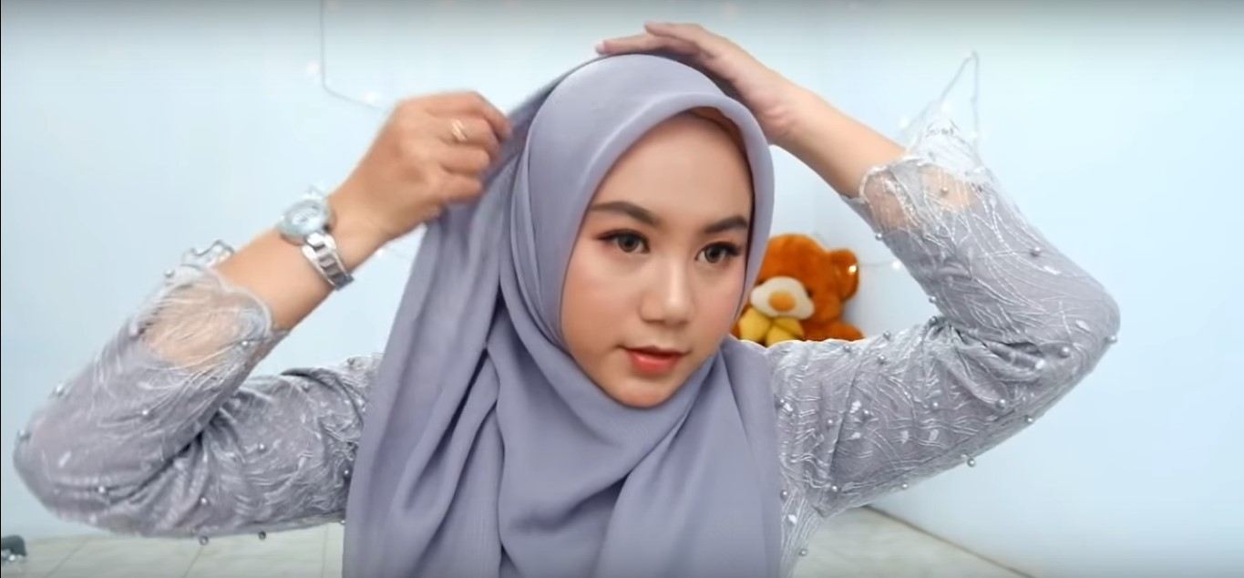 Tutorial Hijab Paris Pesta