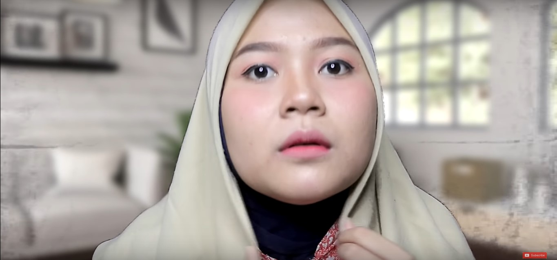 Tutorial Hijab Pesta 2 Warna