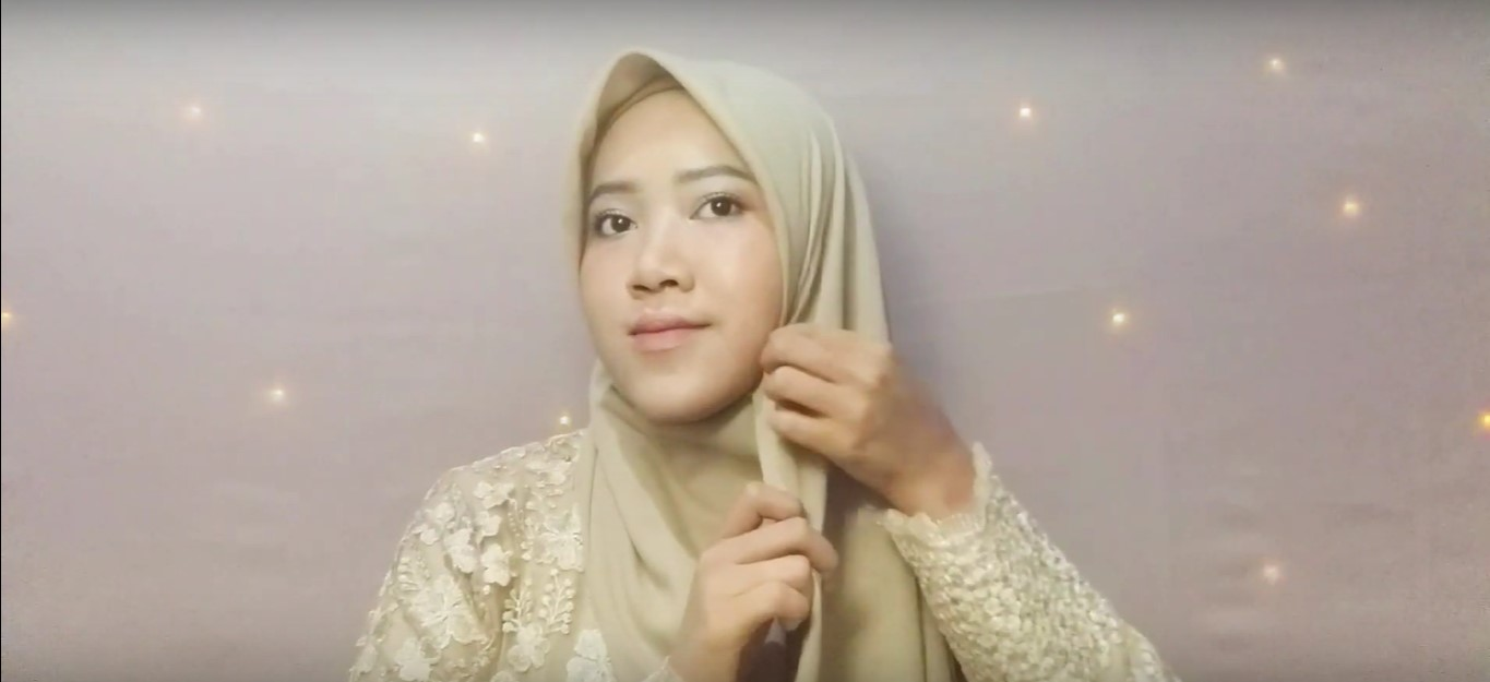 Tutorial Hijab Pesta Kebaya