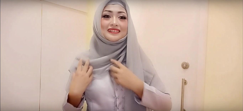 Tutorial Hijab Pesta Simple Dan Elegan
