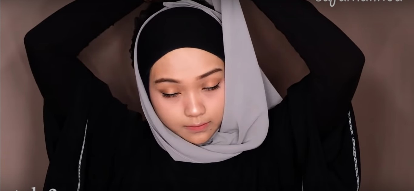 Tutorial Hijab Rawis Simple