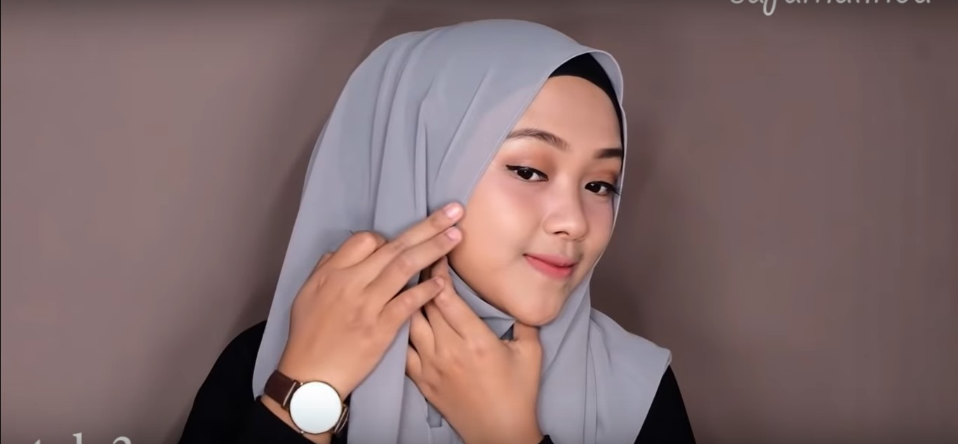 Tutorial Hijab Segi Empat Paris Simple Terbaru