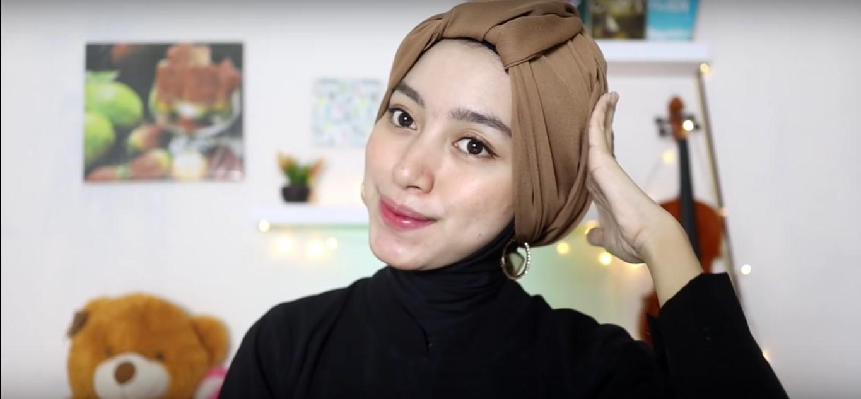 Tutorial Hijab Turban Pesta