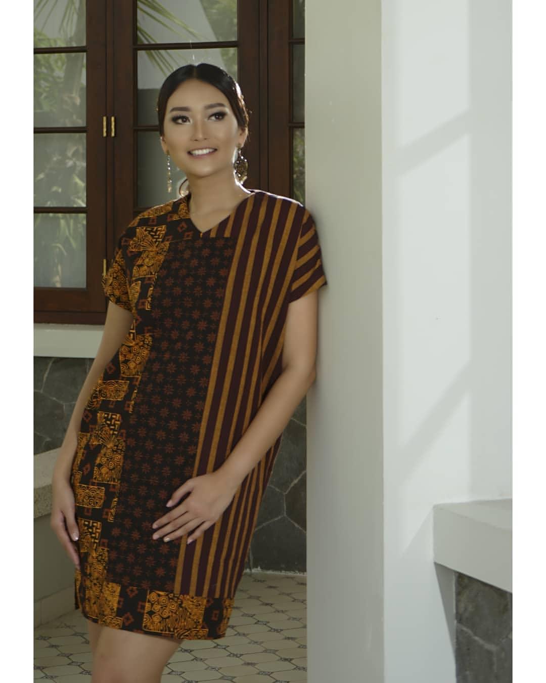 kombinasi batik kawung