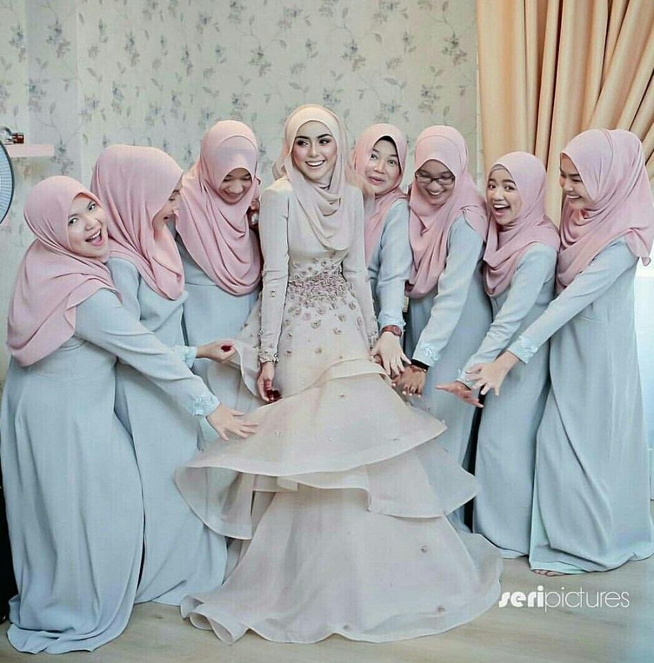Baju Bridesmaid Hijab Syari