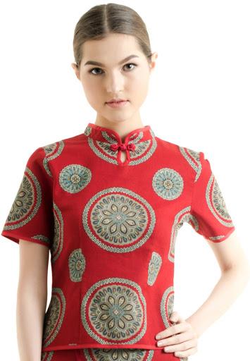 Baju Motif Bunga Imlek Batik